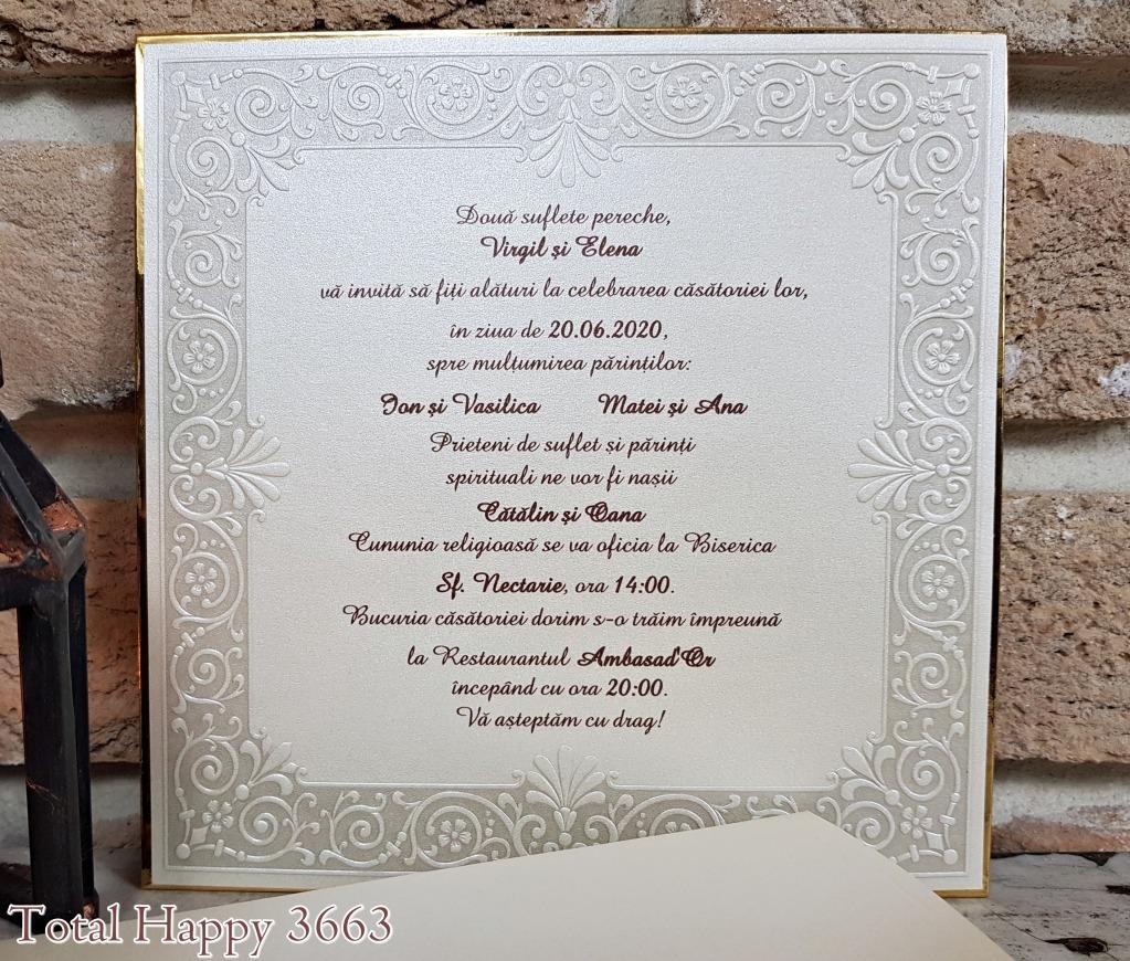 Invitatie Cod 3663 T Indigo