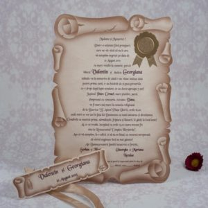 Invitatii Nunta Pergament Modele Invitatii Nunta Indigo Cards